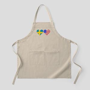 Swedish American Hearts Apron
