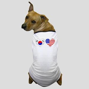 Korean American Hearts Dog T-Shirt