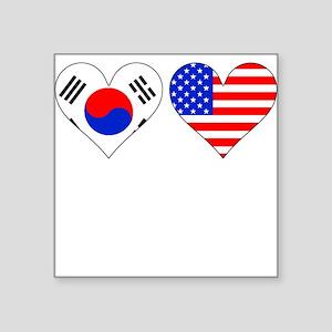 Korean American Hearts Sticker