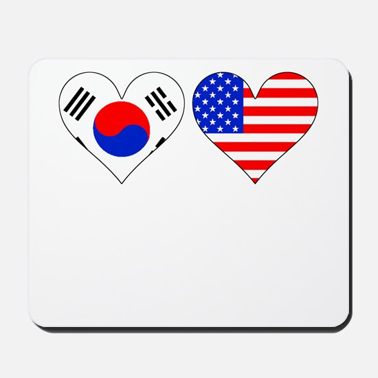 Korean American Hearts Mousepad
