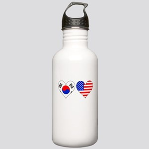 Korean American Hearts Water Bottle