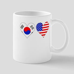 Korean American Hearts Mugs