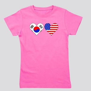 Korean American Hearts Girl's Tee