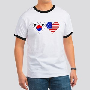 Korean American Hearts T-Shirt