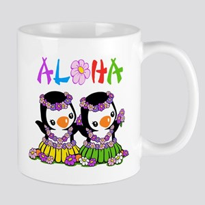 Aloha Penguins Mug Mugs