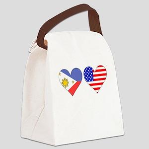 Filipino American Hearts Canvas Lunch Bag