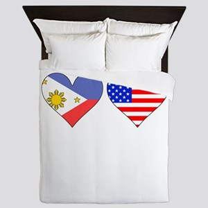 Filipino American Hearts Queen Duvet