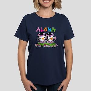 Aloha Penguins Women's Dark T-Shirt