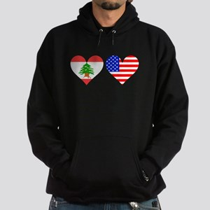 Lebanese American Hearts Hoodie