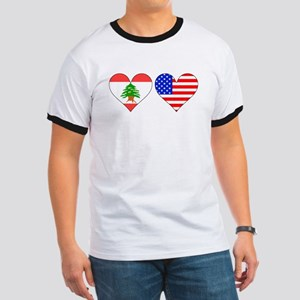 Lebanese American Hearts T-Shirt