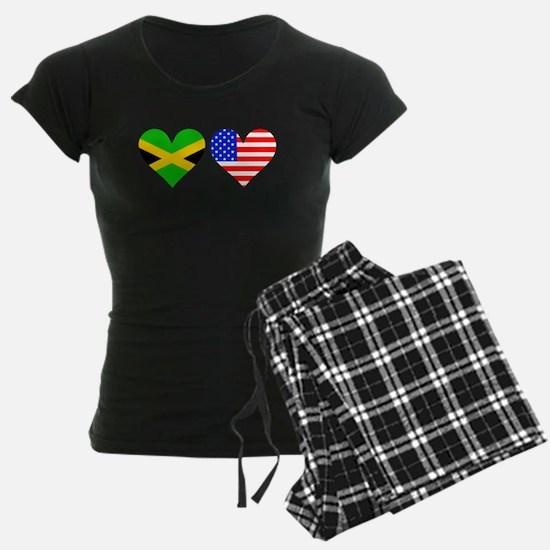 Jamaican American Hearts Pajamas