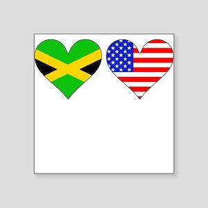 Jamaican American Hearts Sticker