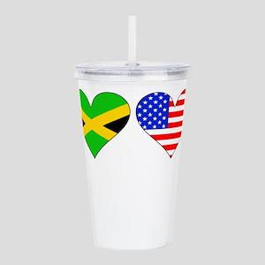 Jamaican American Hearts Acrylic Double-wall Tumbl