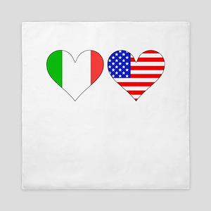 Italian American Hearts Queen Duvet
