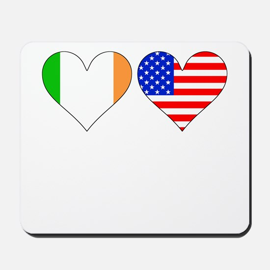 Irish American Hearts Mousepad