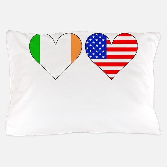 Irish American Hearts Pillow Case