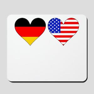 German American Hearts Mousepad