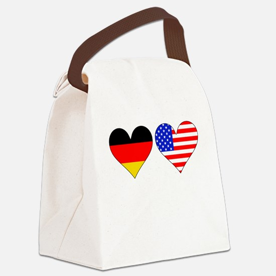 German American Hearts Canvas Lunch Bag