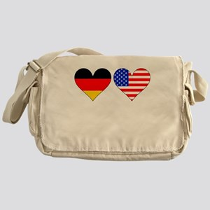 German American Hearts Messenger Bag