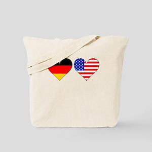 German American Hearts Tote Bag
