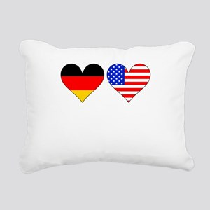 German American Hearts Rectangular Canvas Pillow