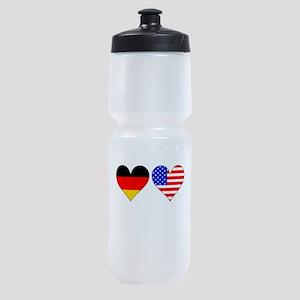German American Hearts Sports Bottle