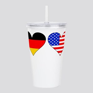 German American Hearts Acrylic Double-wall Tumbler