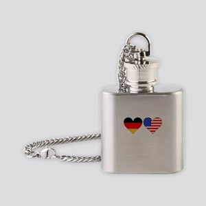 German American Hearts Flask Necklace