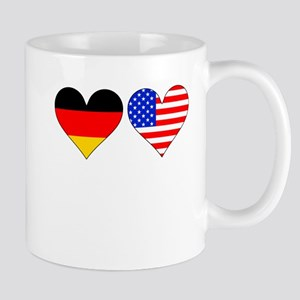 German American Hearts Mugs