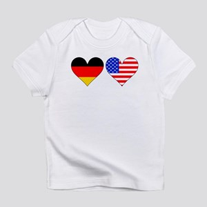 German American Hearts Infant T-Shirt