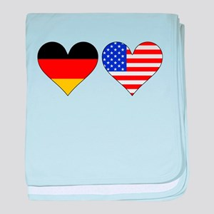 German American Hearts baby blanket