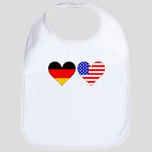 German American Hearts Bib
