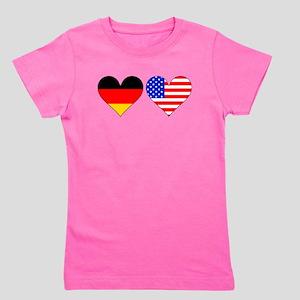 German American Hearts Girl's Tee
