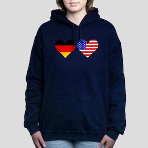 German American Hearts Women's Hooded Sweatshirt