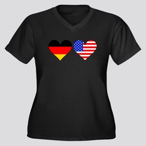 German American Hearts Plus Size T-Shirt