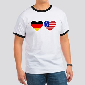 German American Hearts T-Shirt