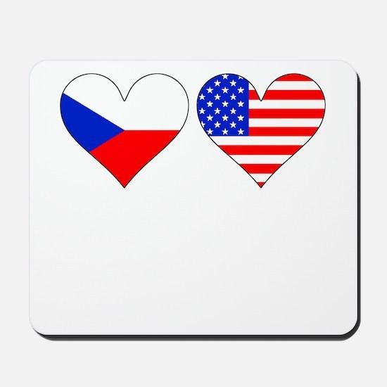 Czech American Hearts Mousepad
