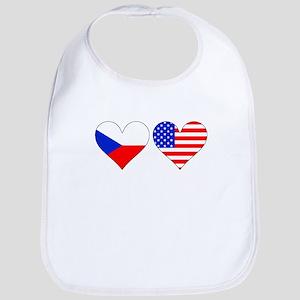 Czech American Hearts Bib