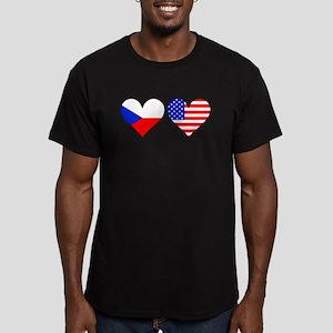 Czech American Hearts T-Shirt