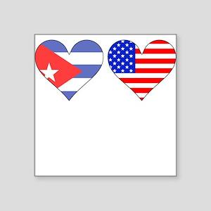 Cuban American Hearts Sticker