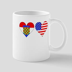 Croatian American Hearts Mugs