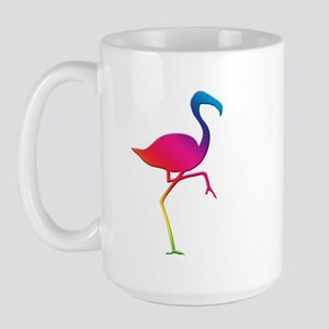 Rainbow Flamingo Large Mug