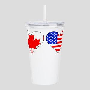 Canadian American Hearts Acrylic Double-wall Tumbl