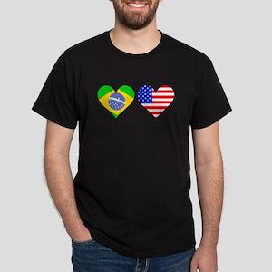 Brazilian American Hearts T-Shirt