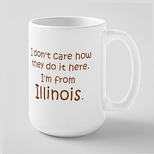 From Illinois Large Mug