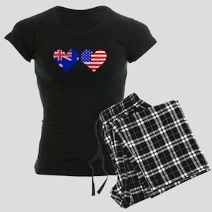 Australian American Hearts Pajamas
