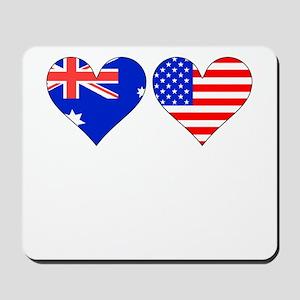 Australian American Hearts Mousepad