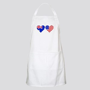 Australian American Hearts Apron