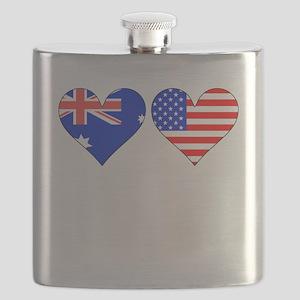 Australian American Hearts Flask