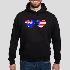 Australian American Hearts Hoodie